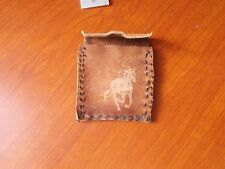 WESTERN POUCH WITH HORSE ON FRONT NATIVE AMERICAN LEATHER POUCH