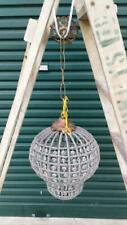 FRENCH STYLE GLASS CRYSTAL SMALL BASKET CHANDELIER ..BRASS DETAIL.