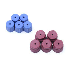 Lot of 10 Pieces A/C Charging Port Service Caps R134a 13mm & 16mm RED & BLUE