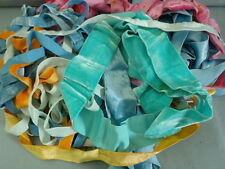 Antique/vintage silk rayon velvet ribbons about 40 yds lot#011