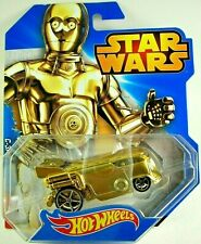 2014 HOT WHEELS STAR WARS C-3PO DRAG BUS - GOLD - NEW IN PACKAGE-GREAT CONDITION