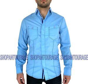 English Heroes EHW162 New Long Sleeve Fashion Button Down Woven Shirt for Men