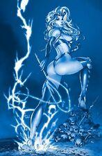 BAD GIRL APOCALYPSE LADY DEATH PARAODY DEBALFO BLUE EXCLUSIVE LTD 30 NM