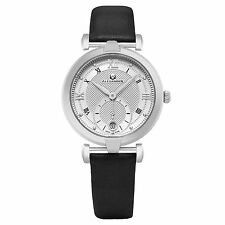 Alexander Monarch Olympias Womens Swiss Quartz Black Satin Leather Watch A202-02