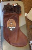 Disney Chewie Stocking Christmas Star Wars Chewbacca - New with Tag