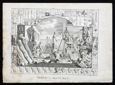 ANTIQUE Vintage c1700's Analysis of Beauty #1 WILLIAM HOGARTH Etching Engraving