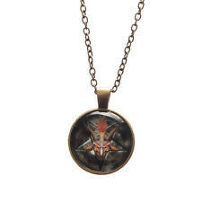 Black Metal Satan Pendant Occult Ritual Baphomet Inverted Necklace