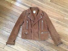 NEW GAP Women's Brown Suede Moto Jacket Biker Coat Everyday Size XS 0
