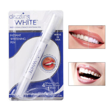 2xTeeth Whitening Gel Pen Dazzling White Soft Brush Professional Dental Cleaning