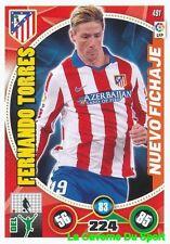 491 FERNANDO TORRES ESPANA ATLETICO MADRID CARD ADRENALYN 2015 PANINI