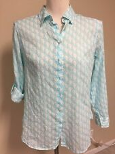 TALBOTS Petites Women Long Sleeves Print Top Size Petite Small ~ New With Tag