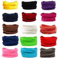 New Cotton Tube Scarf Bandana Head Face Mask Neck Gaiter Snood Headwear Beanie