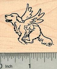 Dog Angel Rubber Stamp, Labrador Retriever, Pet Loss G32612 WM