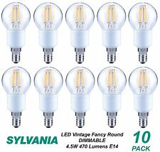10 x LED 4W Vintage Dimmable Filament Light Globes / Bulbs E14 Screw