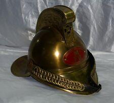 Elmo antico da pompiere vigili del fuoco in ottone arredo ufficio marina nautica