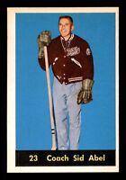 COACH SID ABEL 60-61 PARKHURST 1960-61 NO 21 EXMINT+  12497