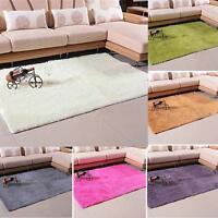 Fluffy Anti-skid Shaggy Rug Dining Living Room Carpet Comfy Bedroom Floor Mat