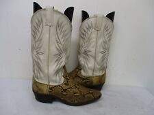 DAN POST Snakeskin Leather Cowboy Boots Mens Size 8.5 D Style S6560 USA