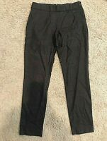 Eileen Fisher Charcoal Gray Wool Crepe Pants, Elastic Waist, Stretch, Size 4
