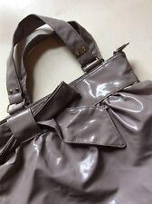 Grey PVC Patent Shiny Pouch Bag Primark Handbag