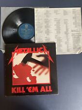 METALLICA Kill Em All KOREAN Import Korea LP Vinyl VG+/VG+