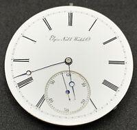 Elgin Grade 49 Pocket Watch Movement 16s 15j convertible Model 1 Ticking F5350