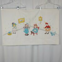 Vintage Twin Size Bed Sheets Raggedy Ann & Andy  Flat Sheet