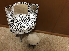 Barbie Doll Zebra Fashion Bratz Glam Home Vanity Mirror Bedroom House Furniture