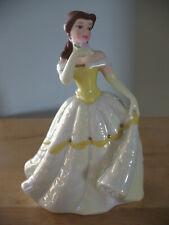 Nib Disney Princess Belle Ceramic Porcelain Figurine Figure Beauty and the Beast