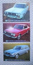{3}1970?1971?1972 Toyota CORONA Mark 2 Brochures for framing:WAGON,HARDTOP,SEDAN