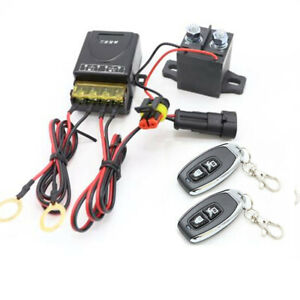 Wireless Remote Car Battery Cut-off Disconnect Master Kill Switch Relay System