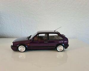 """1:18 VW Polo G40 Genesis lila mit 14"""" Schmidt TH-Line Felgen Chrom ( wie NEU )"""