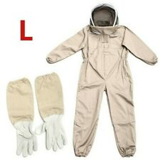 Complet Corps Anti-bee Suit Apiculture Vêtements Coton Voile Capuche Protecteur
