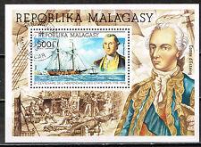 Madagascar Famous US War Ship Hanna Souvenir Sheet 1975