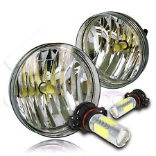 For 07-13 GMC Sierra Bumper Fog Lights w/COB LED Bulbs - Clear
