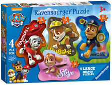 PAW PATROL 4 SHAPED 10/12/14/16 PIECE RAVENSBURGER JIGSAW PUZZLE