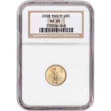 2003 American Gold Eagle 1/10 oz $5 - NGC MS69