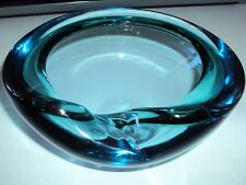Vintage Italian Murano Style Hand Blown Art Glass Half Shell Bowl Ashtray