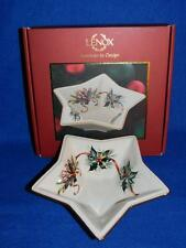 "Lenox Christmas Winter Greetings Porcelain Star Candy Dish 8"" with Box"
