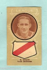 1930s AUSTRALIAN LICORICE FOOTBALLERS CARD - R. HILLIS, SOUTH MELBOURNE