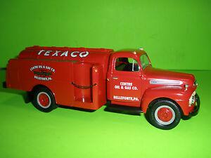 TEXACO FIRST GEAR 1951 FORD TANKER TRUCK CENTRE OIL 75th ANNIVERSARY 19-2285