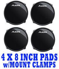 "*NEW--SET OF 4 W/MOUNTS* Alesis DM10 RealHead 8"" Dual Zone Drum Pads DMPad Inch"