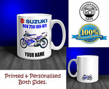 Suzuki RGV250 (89-97) Motorbike Personalised Ceramic Mug Gift (MB008)