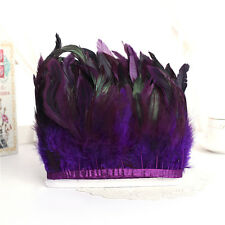 Hackle Rooster Feather Fringe trim 1 to 10 yard Craft /Sewing/Costume 10-15cm