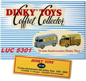 COFFRET COLLECTOR 75è ANNIVERSAIRE DINKY DE 2009 #25-09  PAR DINKY TOYS / ATLAS