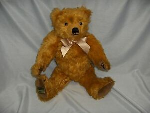 "Vintage 15"" Merrythought Teddy Bear Gold Lmt Edition England Growls Harrods"