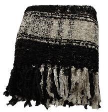 Splendido bianco e nero motivo a plaid Sparkle Weave Buttare