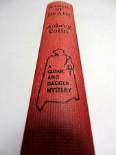 HANDS of DEATH - Aubrey Colin (1st Ed 1963) Cloak & Dagger Mystery Crime novel