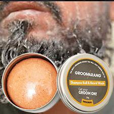 Groomarang Champú Ball & Barba modelado de aseo lavado estilo cuidado orgánico 100%