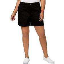 $53 Style & Co. Womens Plus Mid-Rise Comfort Waist Cargo Shorts Black Size 22W